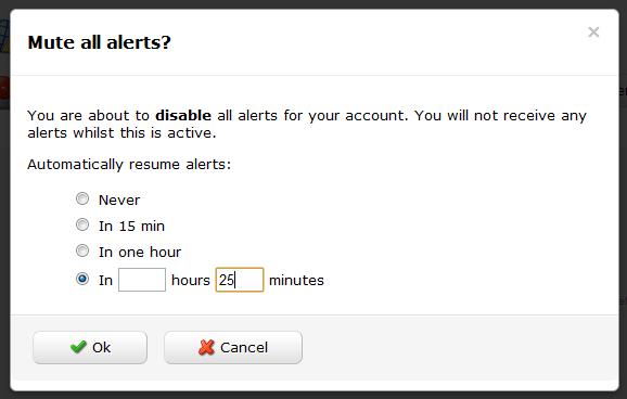 Global alert mute