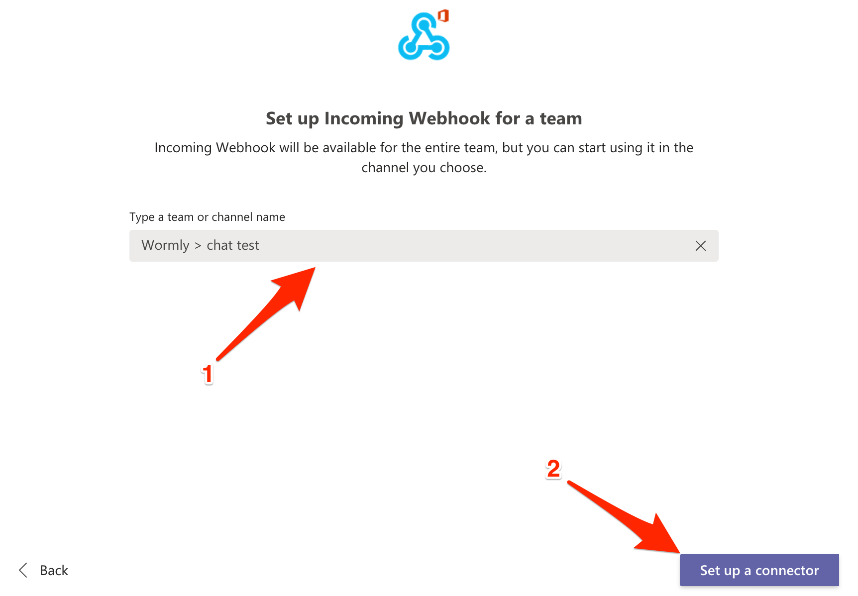 Teams Incoming Webhook Configuration